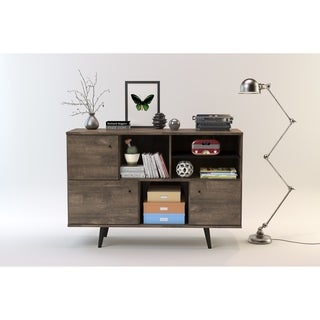 Strick & Bolton Waller Mid-Century 3-Cabinet Buffet