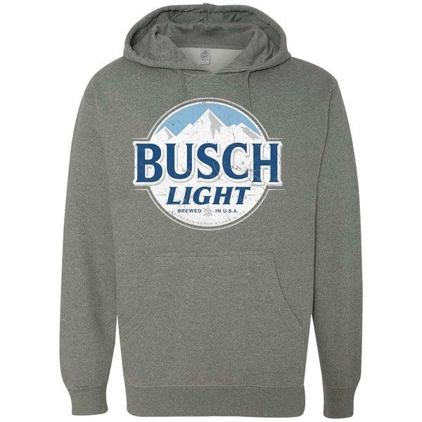 Busch Light Grey Logo Hoodie