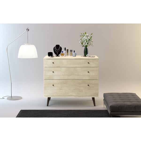Strick & Bolton Waller Mid-Century 3-Drawer Dresser - Free Shipping ...