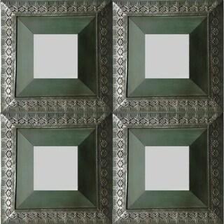 Ben Wall Mirrors- set of 4 - Blue/Green - N/A