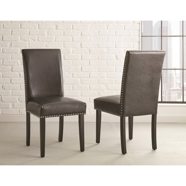 Vashon Black Side Chairs by Greyson Living (Set of 2) - 40 inches high x 19 inches wide x 26 inches deep
