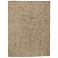 Herringbone Hand-Woven Jute Area Rug by Kosas Home - 8' x 10'