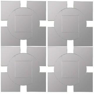 Tupan Square Decorative wall Mirror- Set of 4