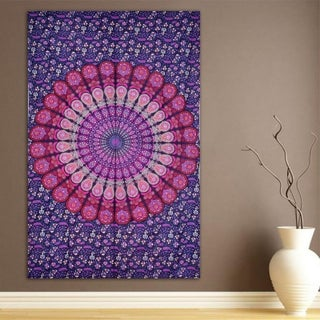 Mandala Tapestry Beach Sheet Wall Decoration Big Beautiful Versatile (Option: Pink)