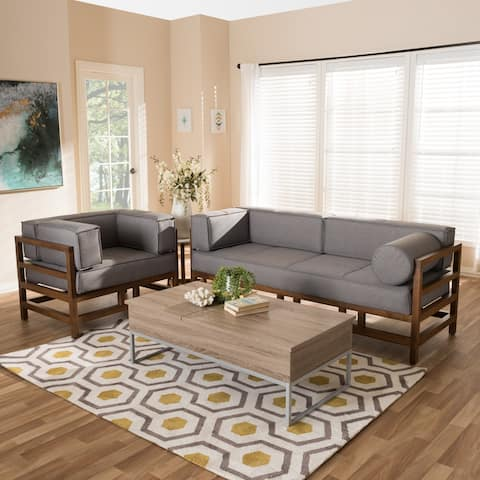 Mid-Century 2-Piece Living Room Set by Baxton Studio