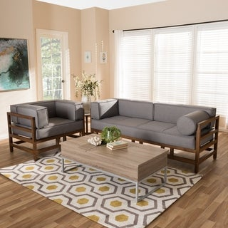 Mid-Century 2-Piece Living Room Set by Baxton Studio