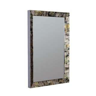 Logen Rectangular Wall Mirror - Black/Grey