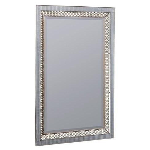 Sasha Rectangular Wall Mirror - Silver/Gold