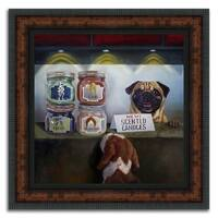 """""""The Sniff Shop"""" Framed Painting Print in Acrylic Finish"""