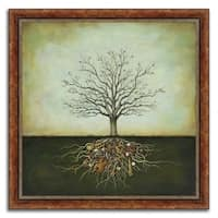 """The Music Tree"" Framed Painting Print in Acrylic Finish - 23 x 23"