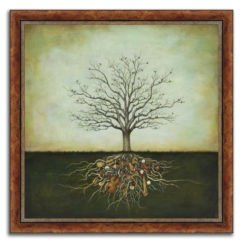 """""""The Music Tree"""" Framed Painting Print in Acrylic Finish - 23 x 23"""