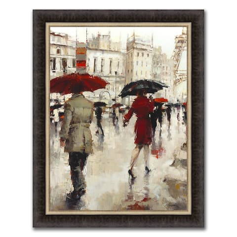 """""""A Paris Goodbye"""" Framed Painting Print in Acrylic Finish - 30 x 38"""