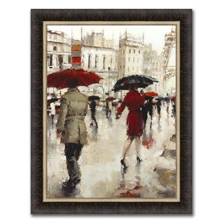 """""""A Paris Goodbye"""" Framed Painting Print in Acrylic Finish"""