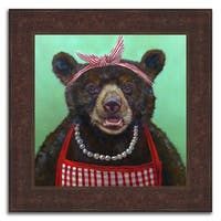 """""""Mother Bear"""" Framed Painting Print in Acrylic Finish - 24 x 24"""