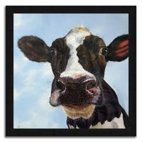 """""""Holly"""" Framed Painting Print in Acrylic Finish - 34 X 34"""