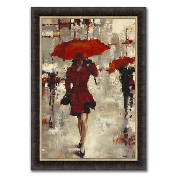"""""""Streets of Paris"""" Framed Painting Print in Acrylic Finish - 30 X 42"""