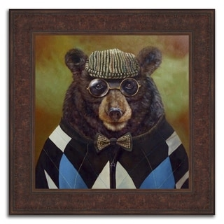 """Father Bear"" Framed Painting Print in Acrylic Finish - 24 x 24"