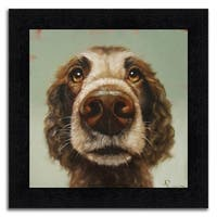 """""""Brownie"""" Framed Painting Print in Acrylic Finish - 15 x 15"""