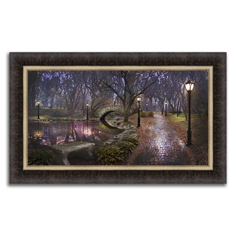 """""""Storybook Path """" Framed Photograph Print in Acrylic Finish - 36 x 22"""