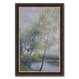"""""""Lakeside Birch """" Framed Painting Print in Acrylic Finish"""