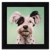 """""""Spot"""" Framed Painting Print in Acrylic Finish - 15 x 15"""