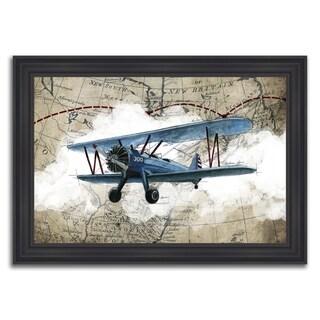 """Aviation Travel I "" Framed Painting Print in Acrylic Finish - 35 x 25"