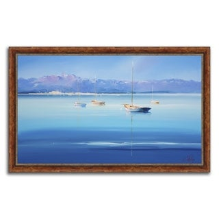 """Azure Moorings "" Framed Painting Print in Acrylic Finish"