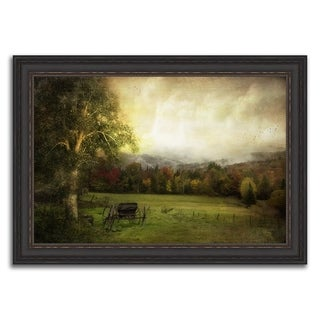 """""""Amish Countryside """" Framed Photograph Print in Acrylic Finish - 42 x 30"""