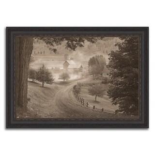 """Rising Morning Fog "" Framed Photograph Print in Acrylic Finish"