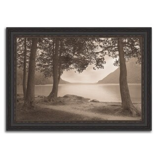 """""""Sepia Lake View """" Framed Photograph Print in Acrylic Finish"""