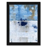 """""""Blue Geometry I """" Framed Painting Print in Acrylic Finish"""