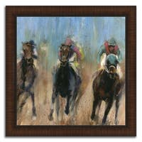 """""""Leader """" Framed Painting Print in Acrylic Finish - 36 x 36"""