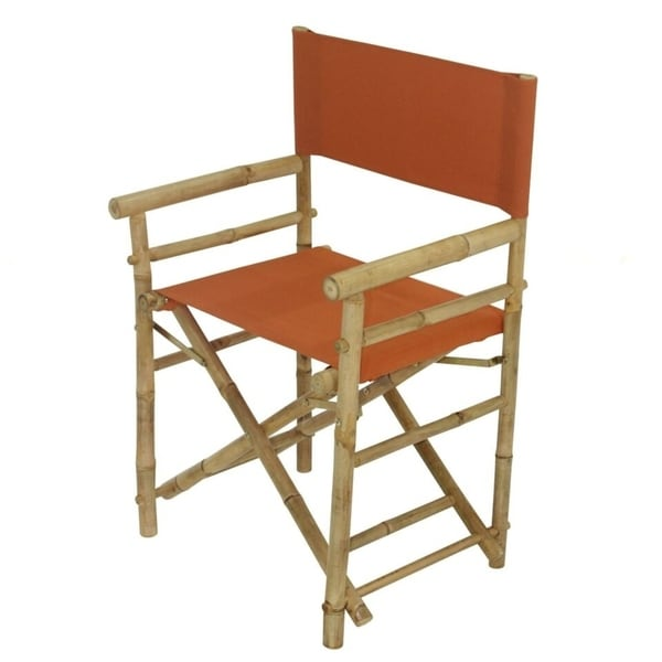 Bamboo Director Chair   Pottery Canvas   Set Of 2 Chairs