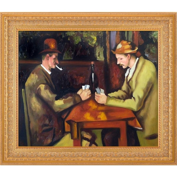 Paul Cezanne 'Card Players with Pipes' Hand Painted Oil Reproduction
