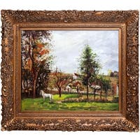 Camille Pissarro 'Landscape with a White Horse in a Meadow' Hand Painted Oil Reproduction