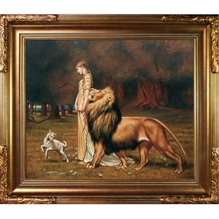 Briton Rivire 'Una and the Lion' Hand Painted Oil Reproduction