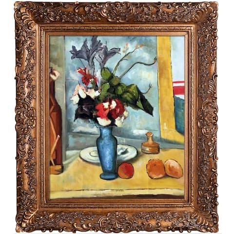 Paul Cezanne 'Le Vase Bleu' Hand Painted Oil Reproduction