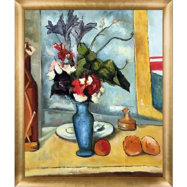 Paul Cezanne 'Le Vase Bleu' Hand Painted Oil Reproduction