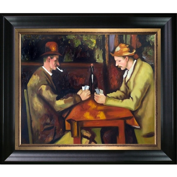 Shop Paul Cezanne Card Players With Pipes Hand Painted Oil - Who painted the card players