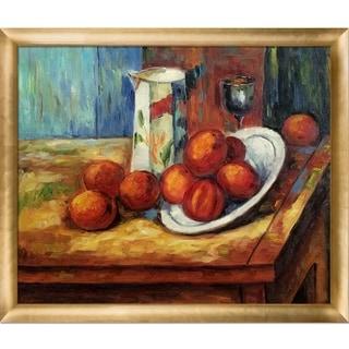 Paul Cezanne 'Bricoo, Bicchiere e Piato' Hand Painted Oil Reproduction