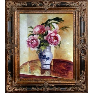 Camille Pissarro 'Bouquet of Pink Peonies' Hand Painted Oil Reproduction