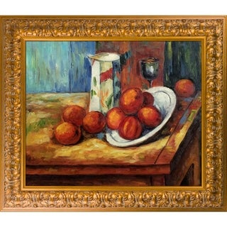 Paul Cezanne 'Bricoo, Bicchiere e Piato' Hand Painted Oil Reproduction