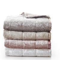 De Moocci Crushed Velvet Throw Blanket