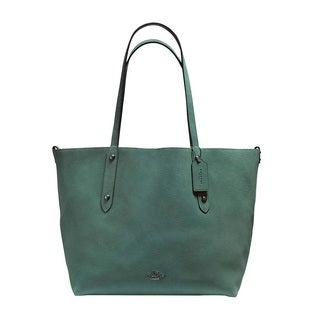 Coach Large Market Turquoise/Black Tote Bag