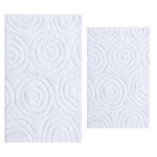 Circle Design 2-piece Bath Rug Set