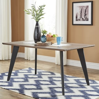 Division Mid-Century Two-Tone Rectangular Dining Table by iNSPIRE Q Modern