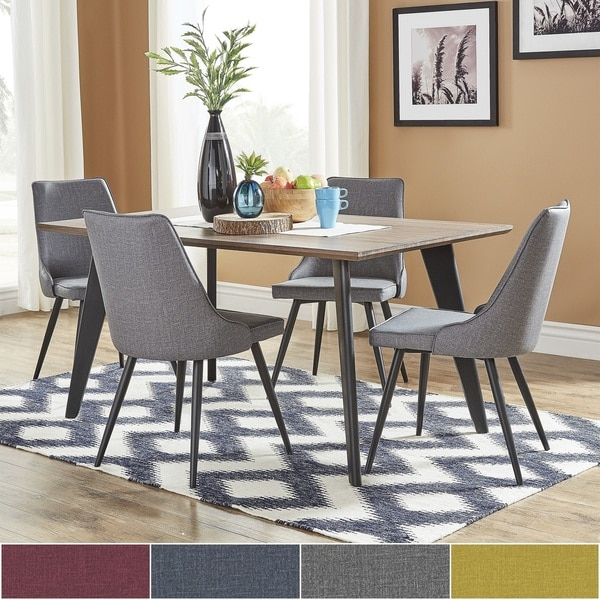 Division Mid-Century Two-Tone Rectangular Dining Set by iNSPIRE Q Modern