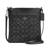 COACH Signature Black Messenger Crossbody Bag