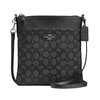 COACH Signature Black Messenger Crossbody Bag