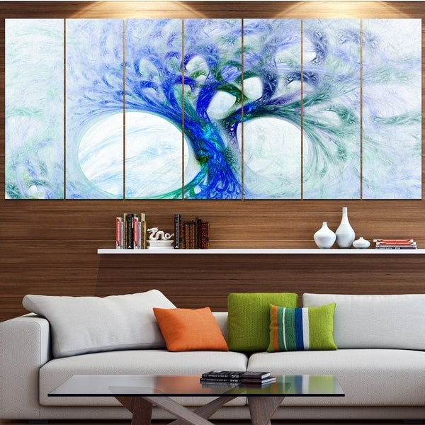 Designart 'Blue Mystic Psychedelic Tree' Abstract Wall Art Canvas